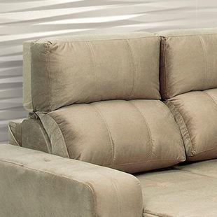 encosto de sofá tres e dois lugares