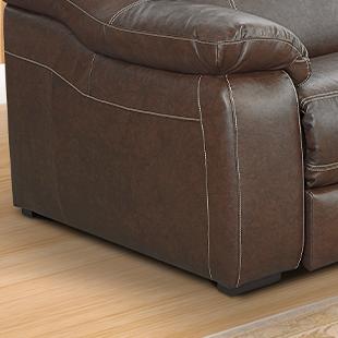 Pé  de Sofá de couro retrátil e reclinável marrom