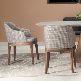 Cadeiras de mesa de jantar com braço