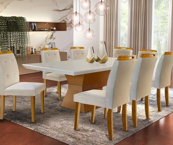 Mesa de jantar oito lugares Camboriu