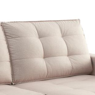 encosto de sofá reclinavel bege